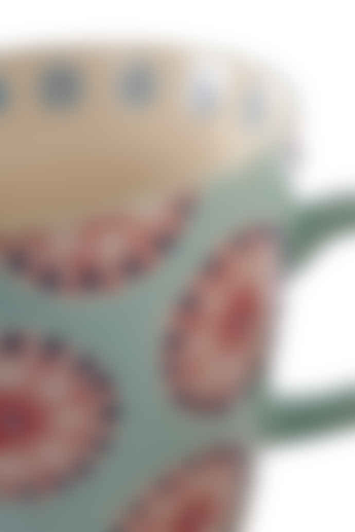 Hyde And Seek Blue Flower Patterned Mug