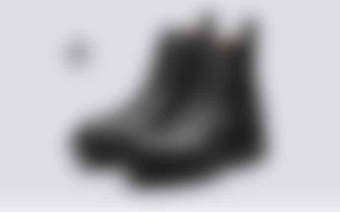 Grenson Vegan Nanette Black Hiker Boots