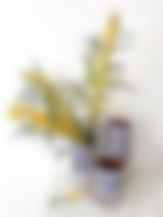 Casa Cubista Crosshatch Vase Blue Medium