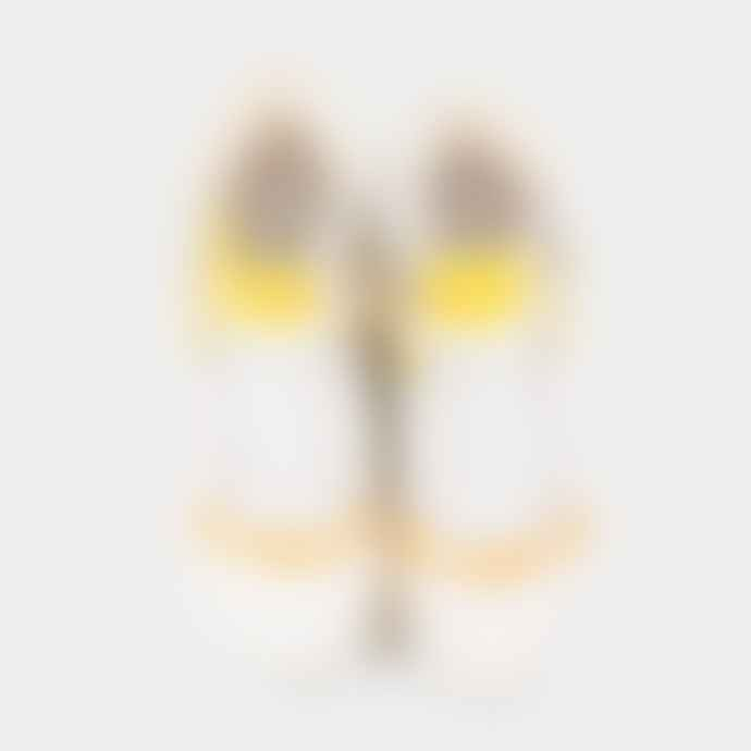 Adidas White and Yellow Rivalry RM Shoes