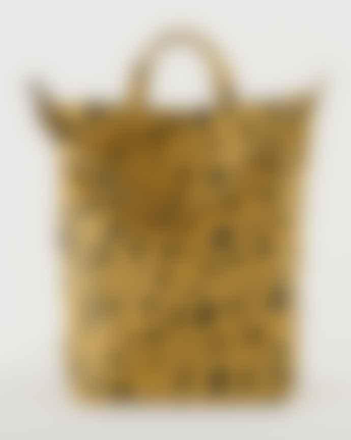 Baggu Leopard Print Cotton Canvas Duck Bag