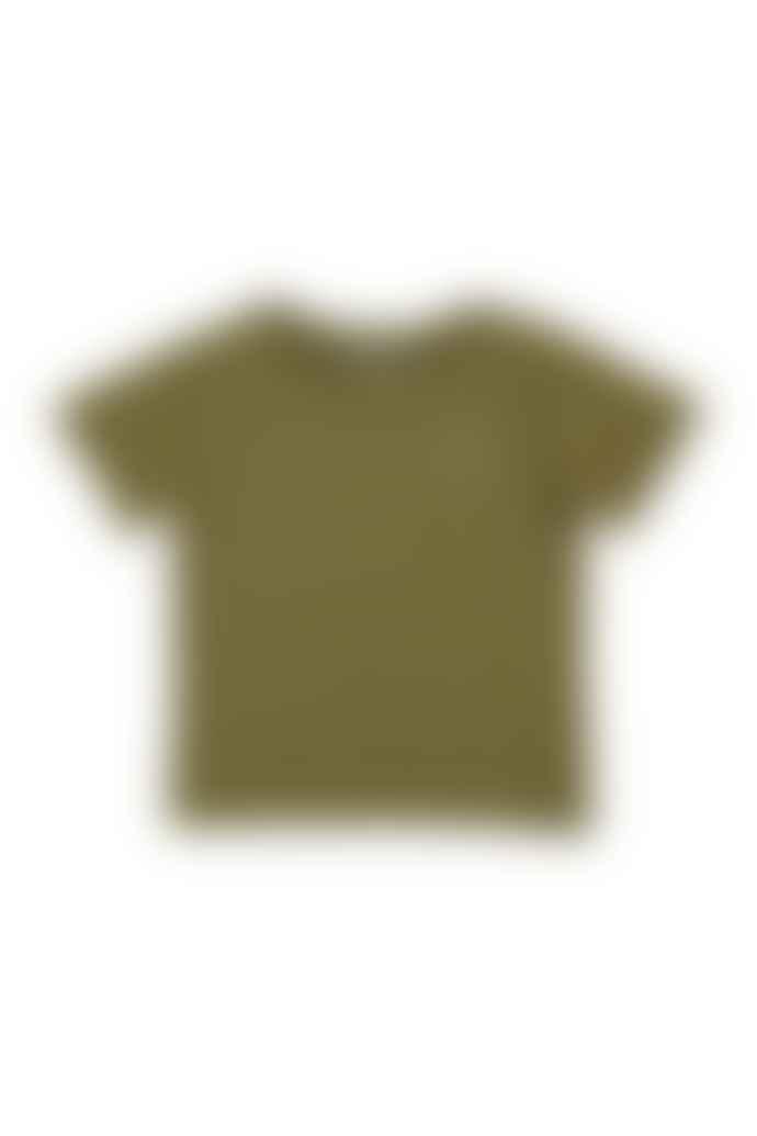 The New Society Logo T Shirt Khaki