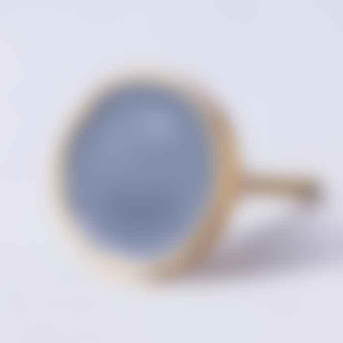 Bombay Duck Dark Grey Round Enamel Drawer Knob