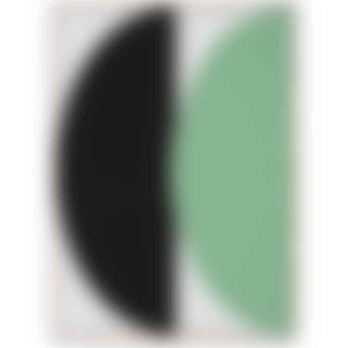Mink Interiors Half Circles III Green + Blue - Art Print by Nina Brunn