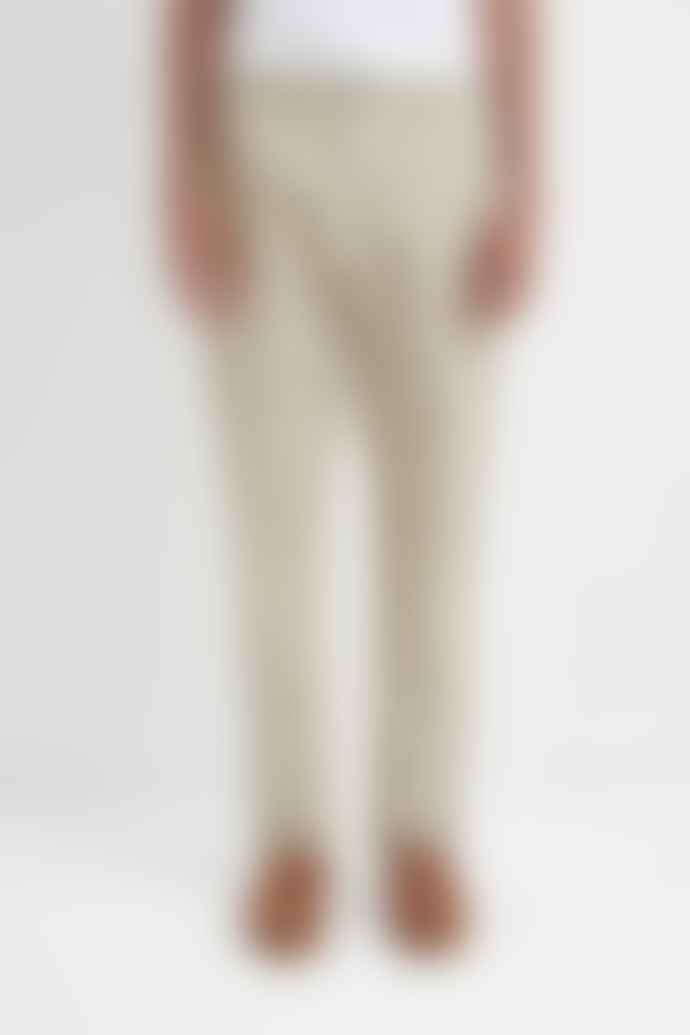A KIND OF GUISE Elasticated Wide Trousers Structured Stone