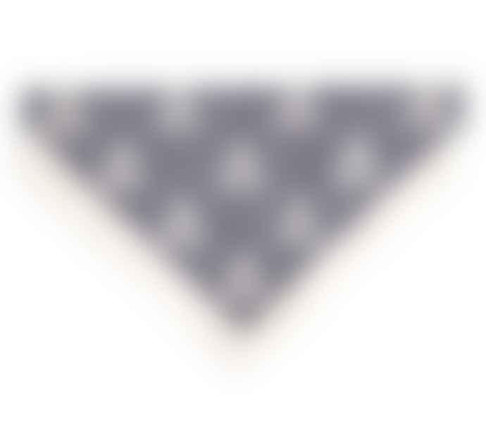Rex London Small Grey Blue Paw Cross Bones Bandana