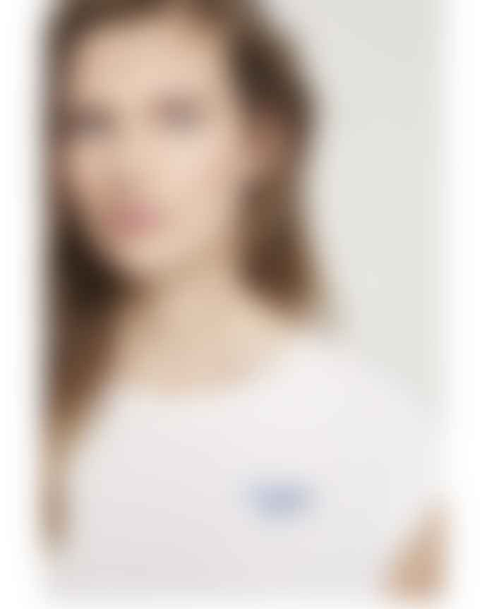 CLOSED White Round Neck Logo Tee Shirt