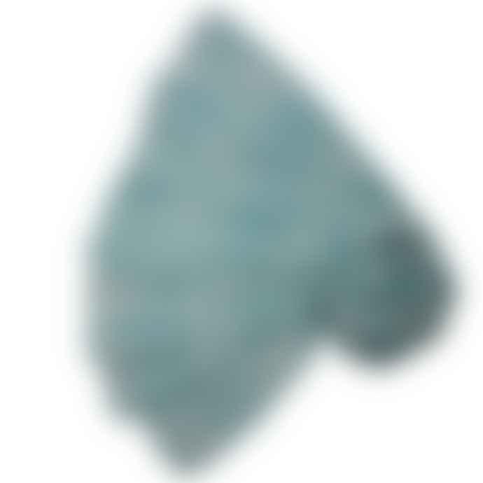 Pure Fashions Light Blue Linked Ovals Scarf