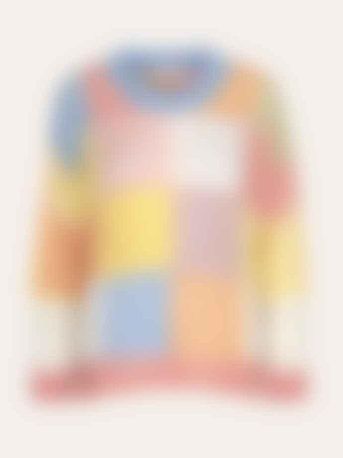 Stine Goya Pastel Sana Gingham Knitted Jumper