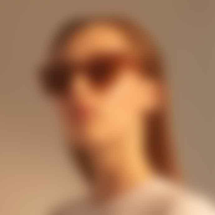 A Kjærbede Bob Demi Light Brown Transparent Spectacle