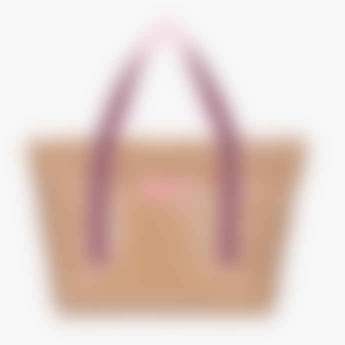OOF Wear Glossy Shopping Bag with Logo in Beige