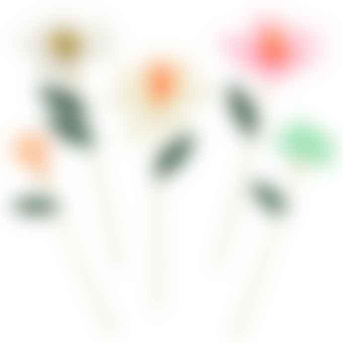 Meri Meri Pack of 10 Flower Garden Decorative Sticks