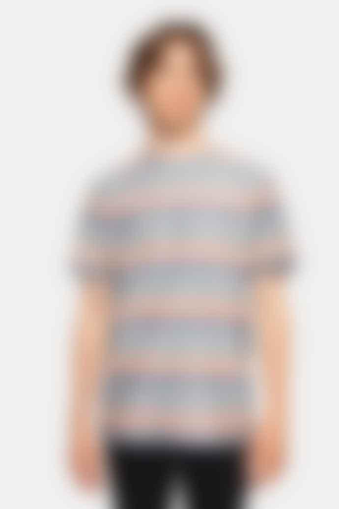 RVLT Mens 1173 Stripe Navy T Shirt