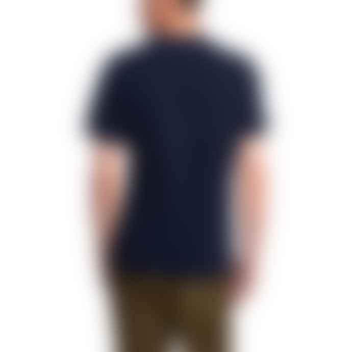 Barbour Beacon Box Logo T Shirt Navy