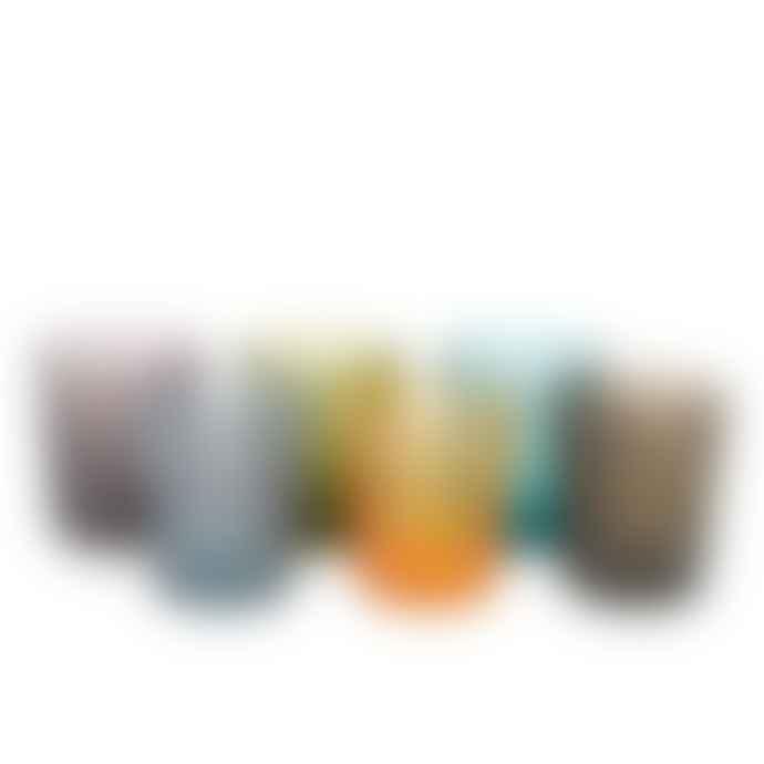 Pols Potten Set of 6 Multicolour Tumbler Blocks Glass