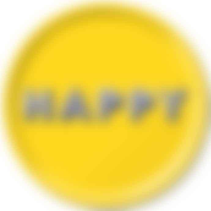 Jamida Asta Barrington 31cm Round Tray Happy Yellow
