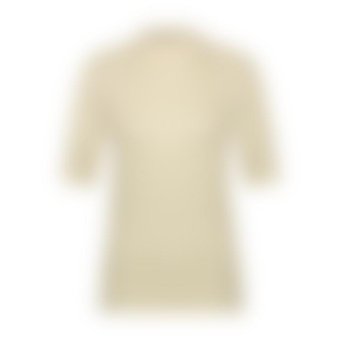 Aaiko Off White Snake Pattern Suraya Vis 142 Short Sleeve Top