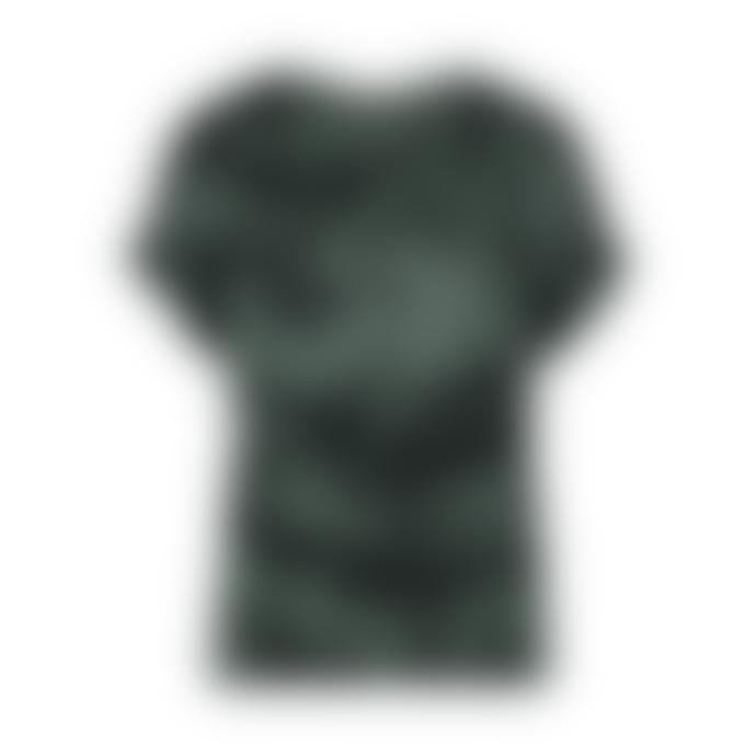 Aaiko Steel Green and Black Merle Tiedye Vis 616 Short Sleeve Top