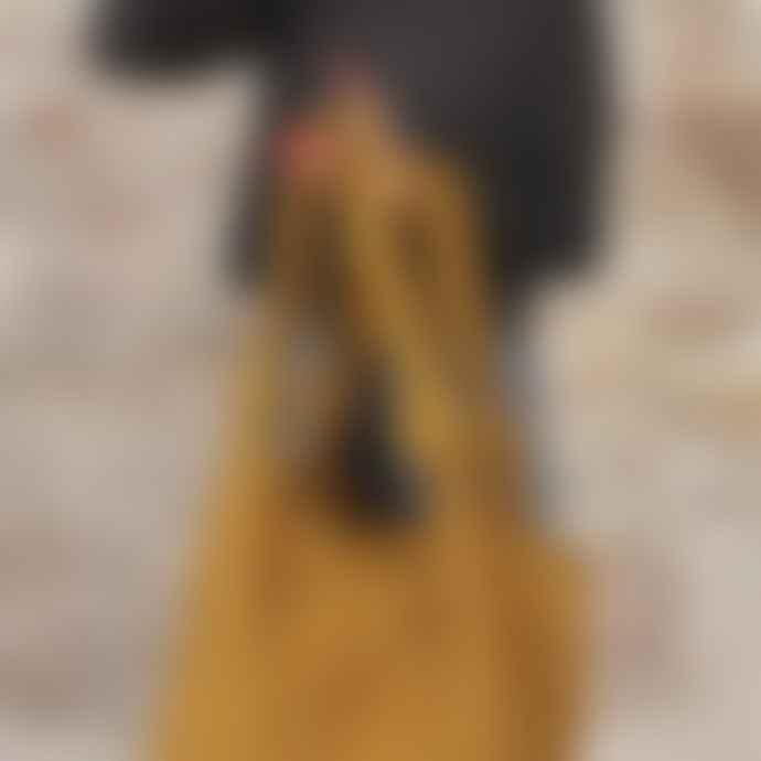 Aura Que Comfy Cotton Shoulder Bag Mustard