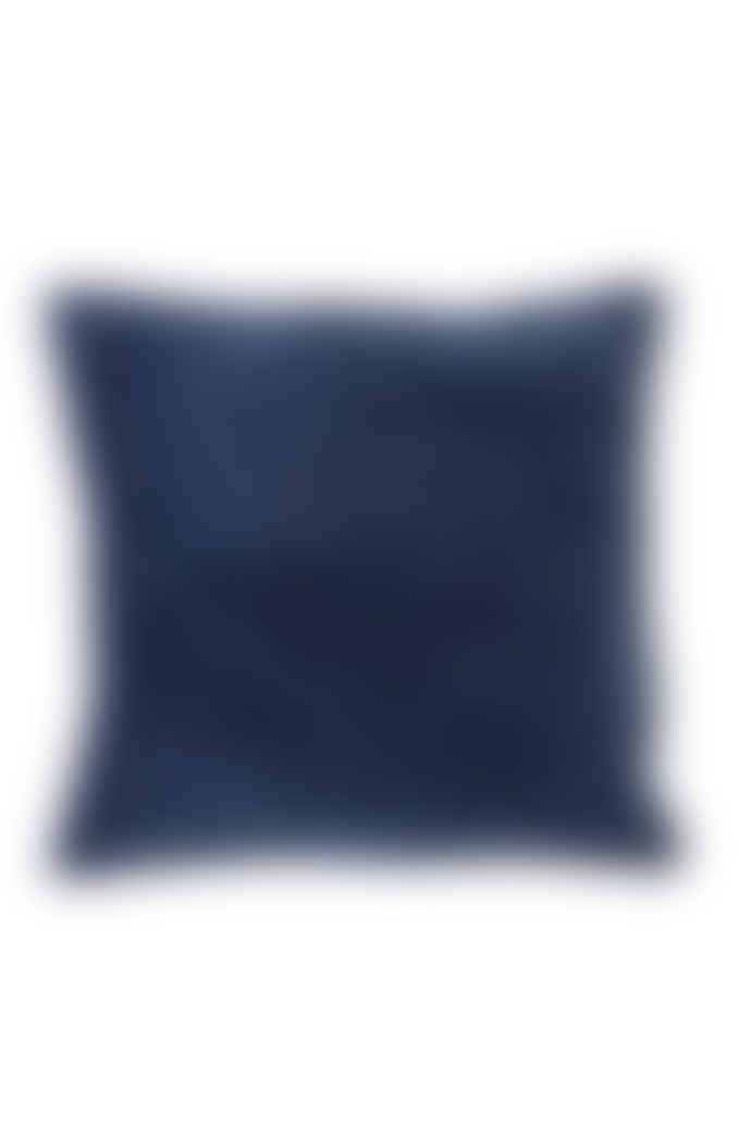 Light & Living Dark Blue Velvet Cushion