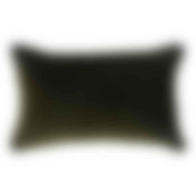 Wallace Cotton Urban Jungle Rectangle Cushion Cover Moss