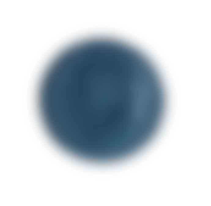Gisela Graham Artisan Shallow Blue Glaze Bowl
