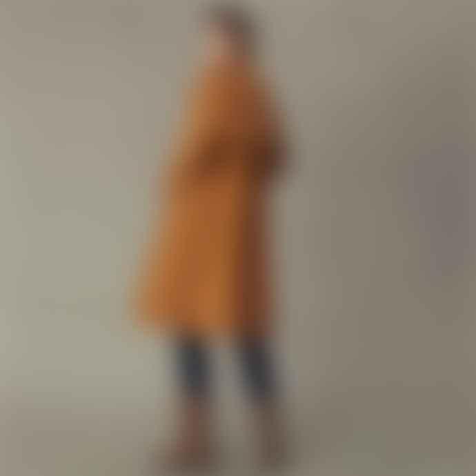 Msch Dark Tan Cotton Angela Trench Coat