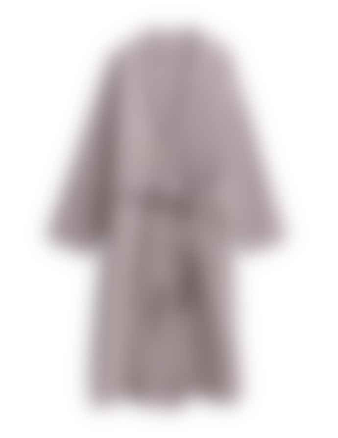 AB Småland Rose Taupe Organic Combed Cotton Waffle Bathrobe