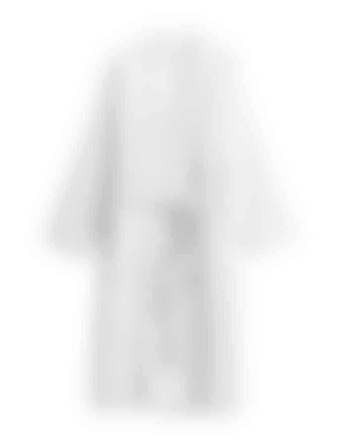 AB Småland Light Grey Organic Combed Cotton Waffle Bathrobe