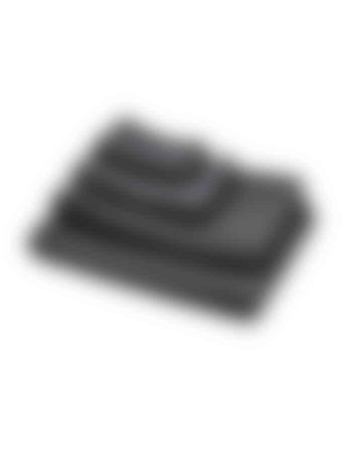 AB Småland 90 x 150cm Dark Grey Organic Combed Cotton Waffle Towel