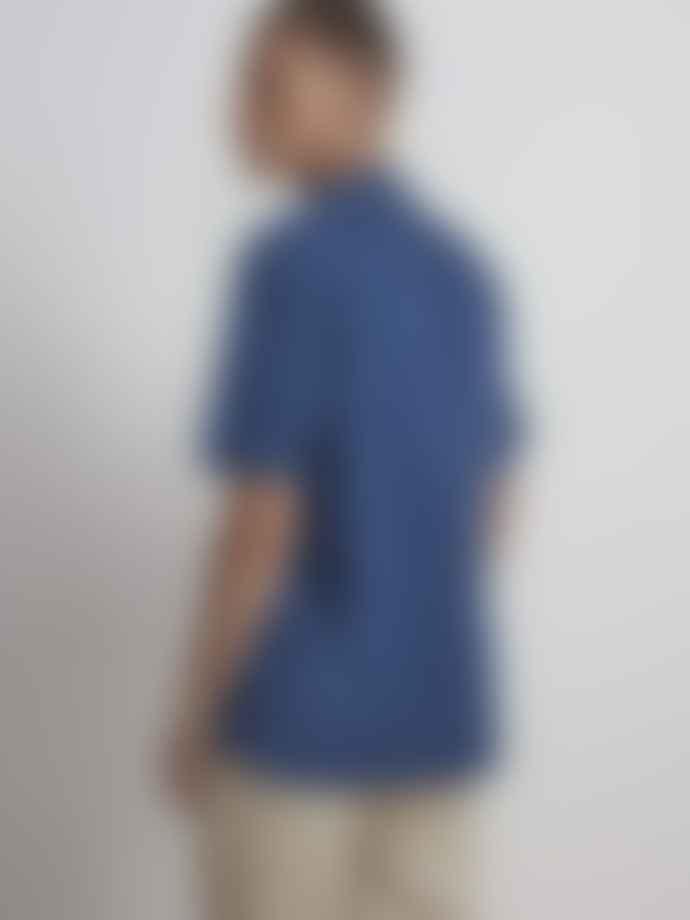 NN07 Miyagi Denim Shirt In Dark Indigo