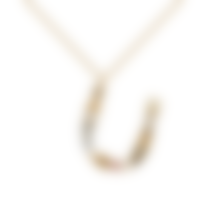 P D PAOLA Sparkling Initial Necklace Gold Letter U