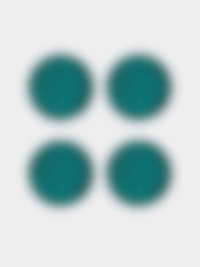 Casa Alegre Blue Thick Textured 18CM Sauvage Small Plate - Set 4