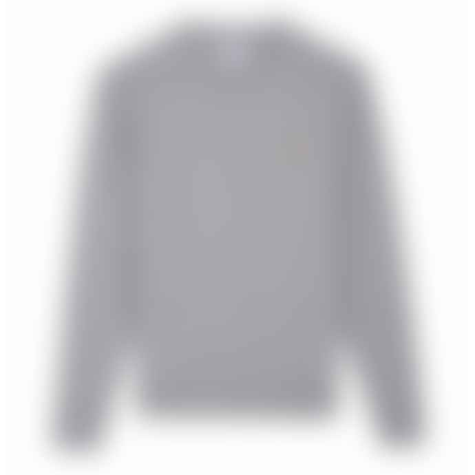 Farah Light Grey Marl Tim Crew Sweatshirt