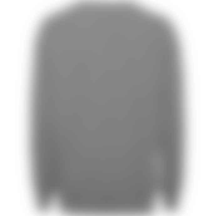 Knowledge Cotton Apparel  80584 Field O-neck Sailor Knit Grey Melange