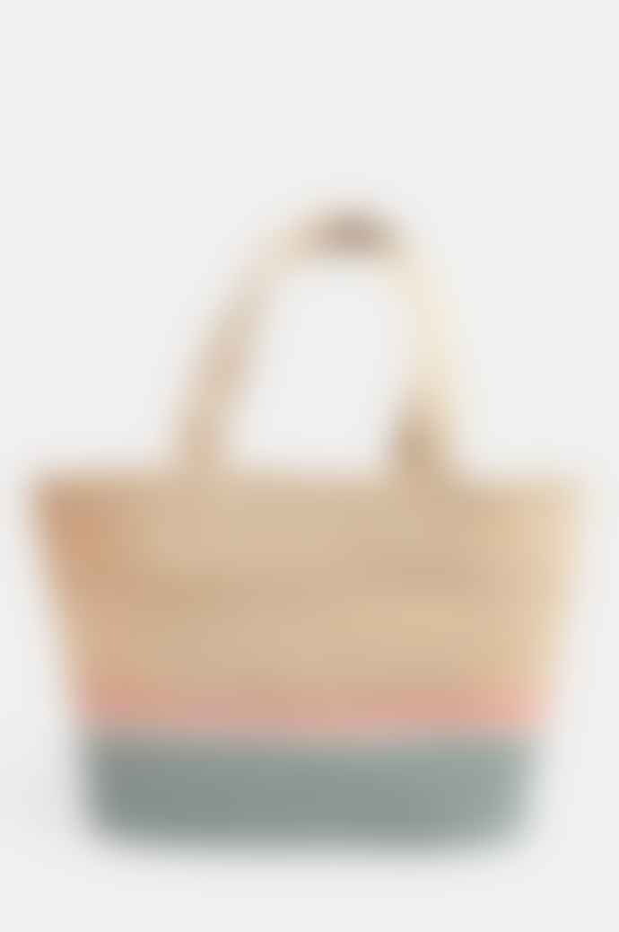 The Braided Rug Company Large Tote Bag In Rose And Thistle