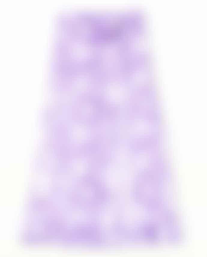 Ganni Heavy Satin Maxi Skirt Violet