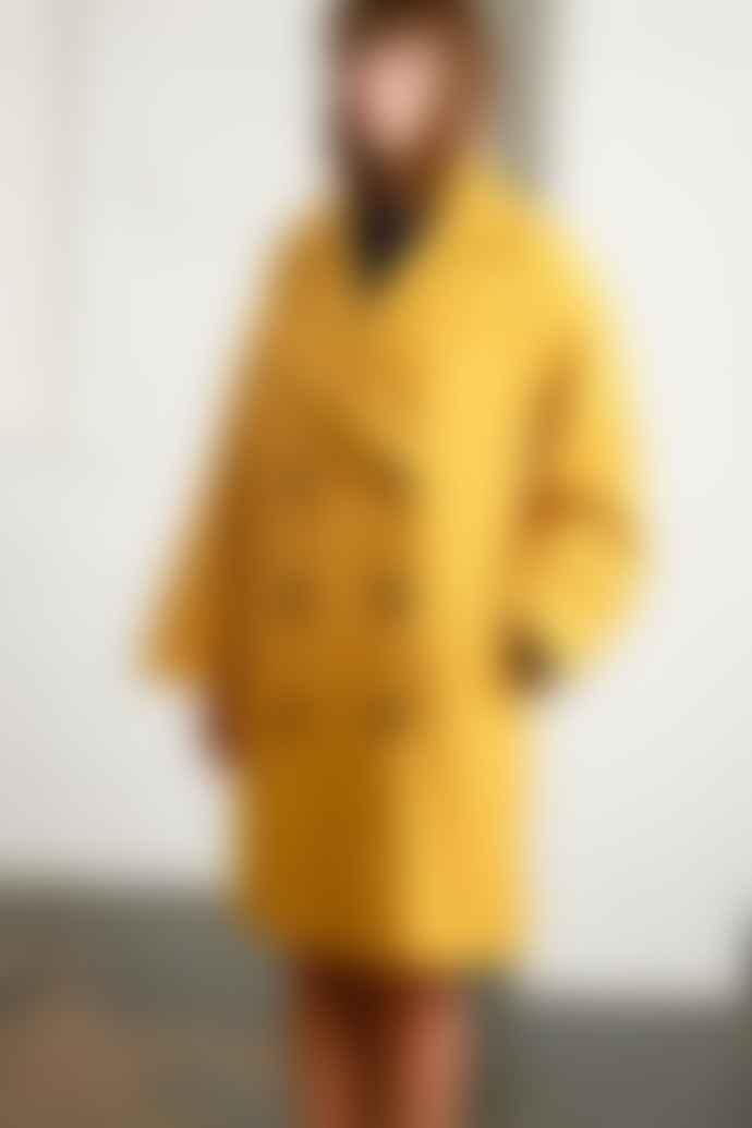 Native Youth Creator Overcoat Mustard Yellow