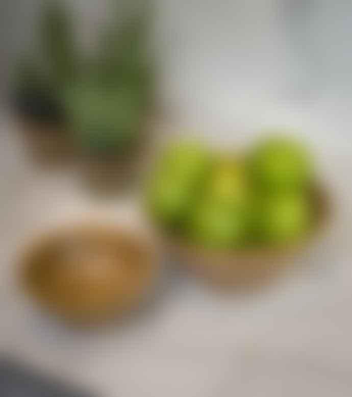 Retreat Home Large Mango Wood Blonde Bowl