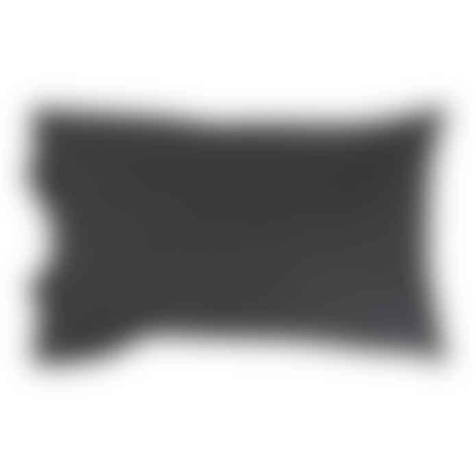 Wallace Cotton Stonewashed Cotton Standard Pillowcase Set 200TC Charcoal