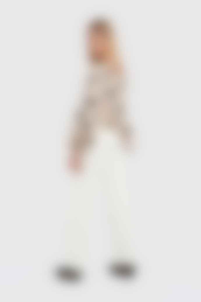 Weili Zheng Cream Long Sleeve Pois Blouse