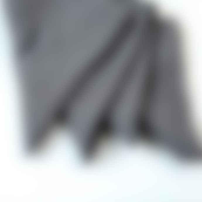 Berylune Set Of Four Washed Linen Napkins Granite