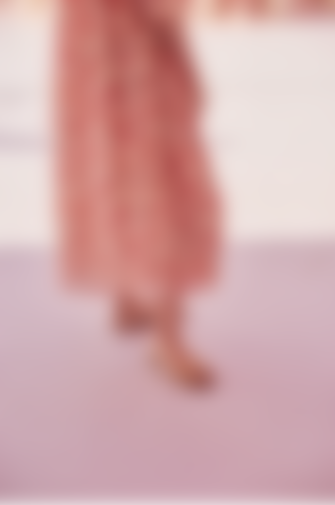 Louise Misha Robe Gera Pink Flowers Dress
