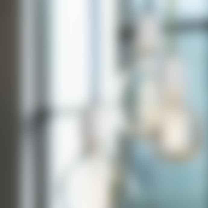 NUD Collection Classic White Pendant Lamp Set Blue Denim
