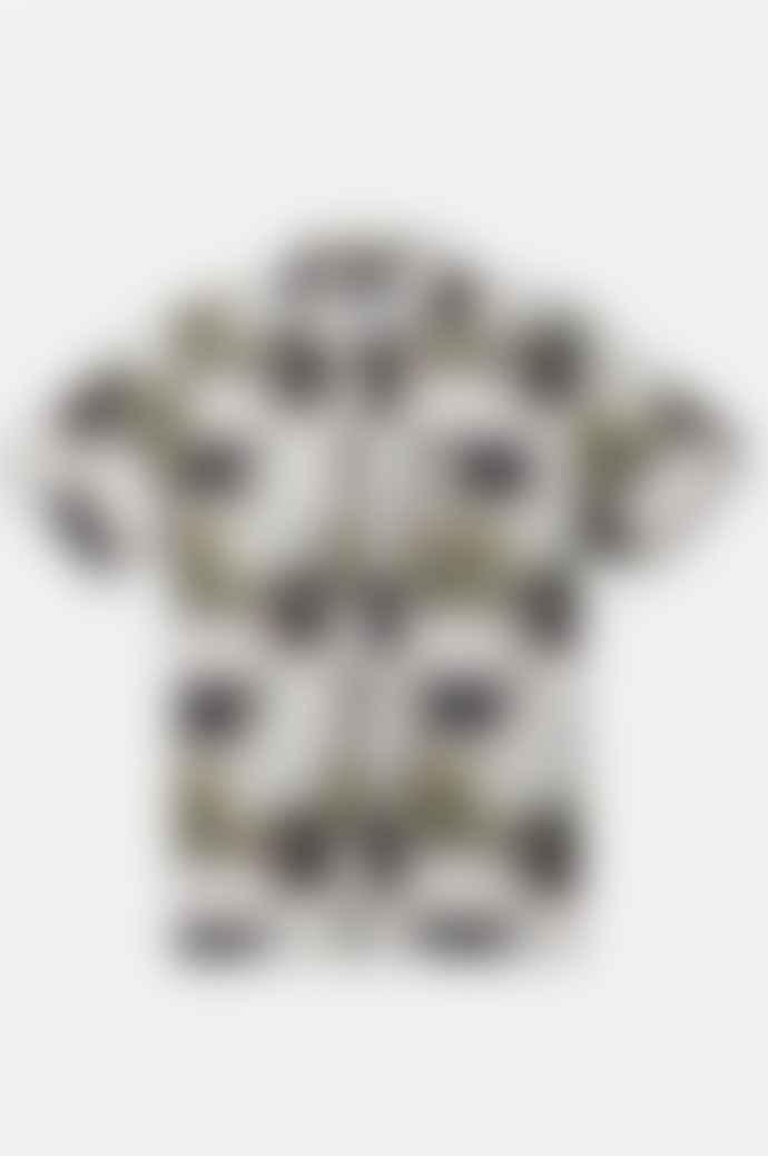 Saturdays NYC Alpons Glass Print Short Sleeve Shirt In Pebbled Glass