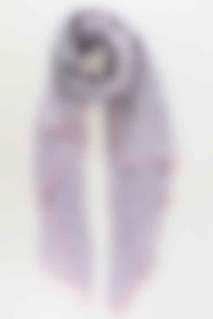 Miss Shorthair Grey Polka Dot Neon Trim Scarf