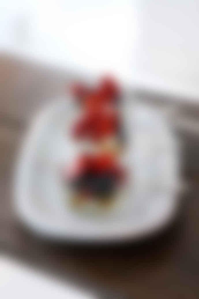 Tine K Home Oval Plate Big Glazed Ceramic White