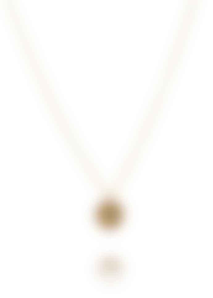 Amanda Coleman Handmade Simple Dahlia Pendant Gold