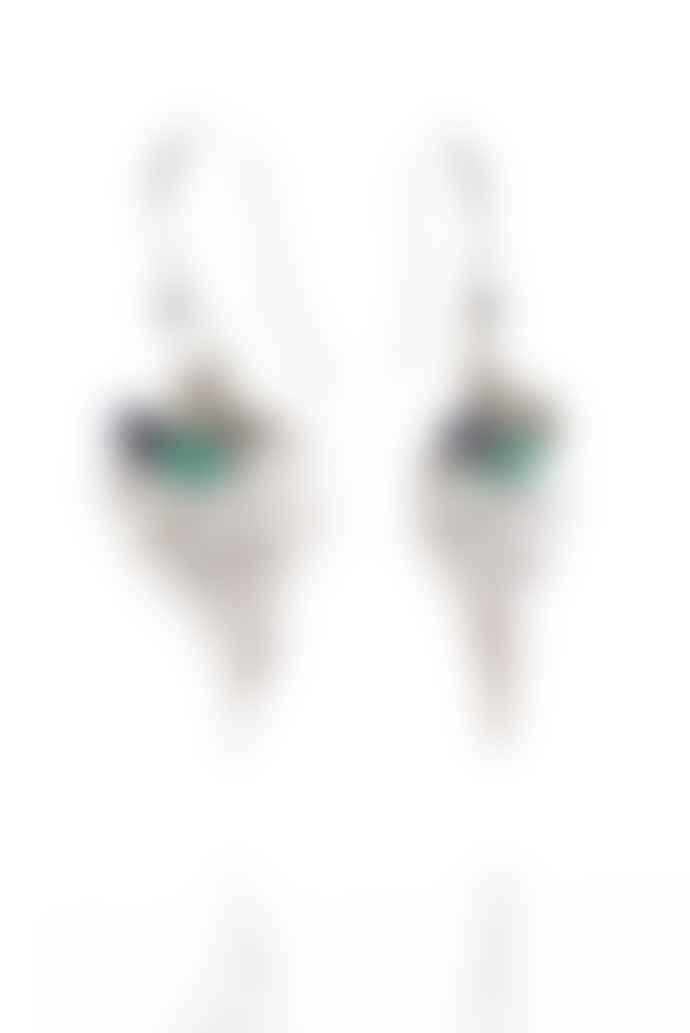 Amanda Coleman Handmade Fern Drop Earrings Silver