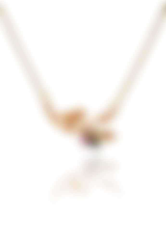 Amanda Coleman Handmade Bird On A Branch Gold Necklace